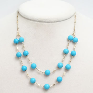 Turquoise 14K Gold Filled Necklace