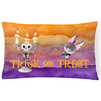 Halloween Trick or Treat Canvas Fabric Decorative Pillow BB7461PW1216