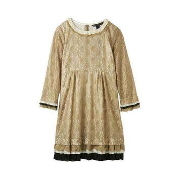 Marc by Marc Jacobs Dita Lace Dress gold ASO Gossip Girl Size 10