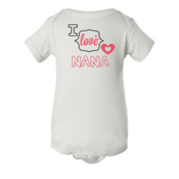 I Love Nana Personalized Baby Onesuit