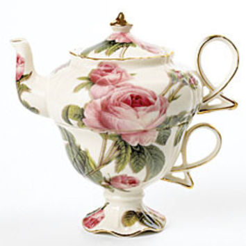 Romantic Rose Tea for One Set