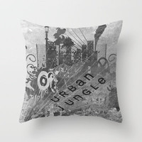 Urban Jungle Throw Pillow by Ally Coxon | Society6