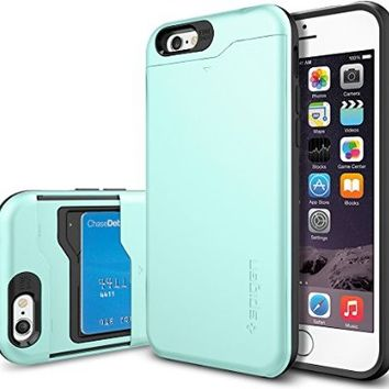 iPhone 6 Case, Spigen® [Slim Armor CS] Card Holder [Gunmetal] With Card Holder Advanced Shock Absorption Protective Wallet Case for iPhone 6 (2014) - Gunmetal (SGP10964)