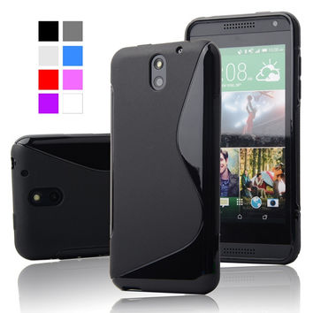 Ultra Thin Anti Skid Soft TPU Case S Line Silicon Gel Cover Soft Plastic Phone Case For HTC Desire 610