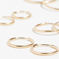 14k Gold Fill Hoop Set