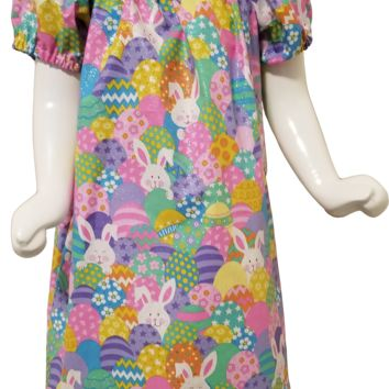 Easter Egg Bunny Peasant Dress