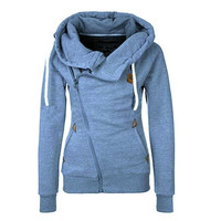 Women Hoodie Zip Parka Trench Outwear Tracksuit Sweatshirt Jumper Pullover Lady Coat Jackets [8833669836]