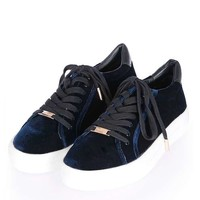 CRYSTAL Flatform Lace Up Trainers