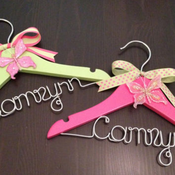 Baby Hanger / Children's Personalized Hanger / DESIGN YOUR OWN- Girl / Baby Shower Gift / Flower Girl Hanger / Flower Girl Gift