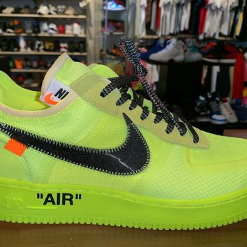 "Air Force 1 Low OFF WHITE ""Volt"" WOrn 1x"