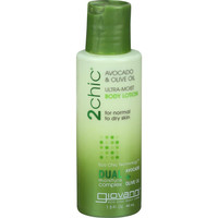 Giovanni Hair Care Products Body Lotion - 2chic - Ultra Moist - Avocado And Olive Oil - 1.5 Oz