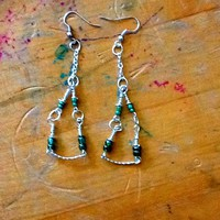 Seed Bead Chandelier Hoops on Luulla