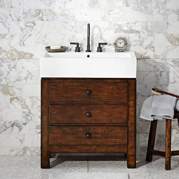 MASON SINGLE SINK CONSOLE - RUSTIC MAHOGANY FINISH