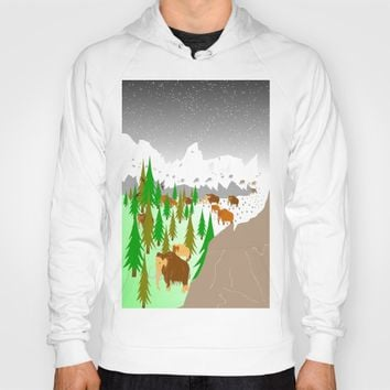 Trail of Mammoths by Kat Worth Hoody by Kat Worth