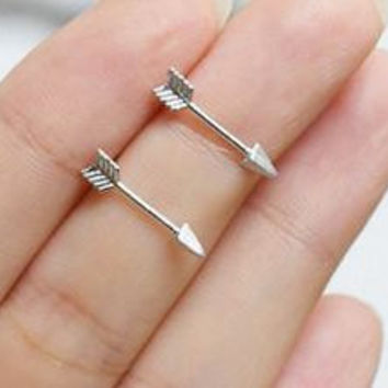 Arrow earrings, Silver Plated Women's Earrings, arrow earrings, womens earrings, gold stud earrings, dressy earrings, girls earrings, arrow