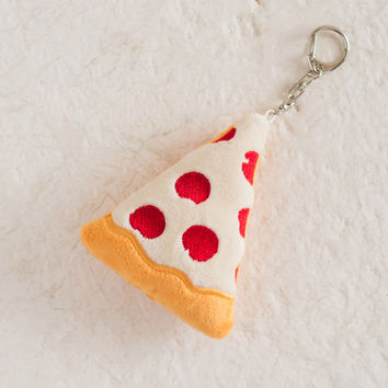 Pizza Red & Yellow Keychain