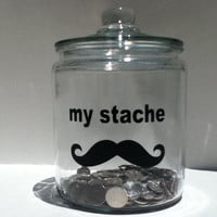 my stache  mustache vinyl decal FREE SHIP in by circlelinestudio
