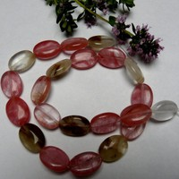 10 Tourmaline Oval Beads 18x13mm €3.00