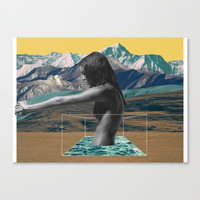 The Girl on the Mountain Canvas Print by Lerson