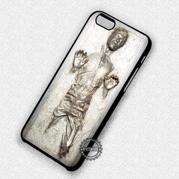 Shiny Silver Star Wars Han Solo - iPhone 7 6 5 SE Cases & Covers