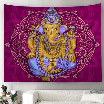 Elephant Wall Hanging Hoho Tapestry Living Room Decor Yoga Mat Boho Beach Towel Wall Cloth Tapestry Witchcraft Bohemian Carpet