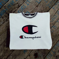 Champion big logo sweatshirt vintage rare design hip hop