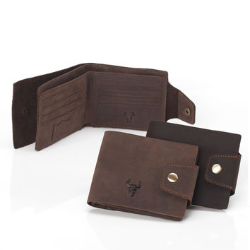 Men Leather Strong Character Handcrafts Vintage Wallet [9026291395]