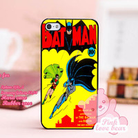 batman and robin flying Design for iPhone 4, iPhone 4s, iPhone 5, Samsung Galaxy S3, Samsung Galaxy S4 Case