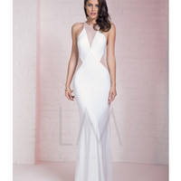 LM by Mignon AL3101 Sheer Illusion Beaded Mesh Dress 2015 Prom Dresses