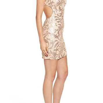 Dear Moon Cutout Back Sequin Body-Con Dress | Nordstrom