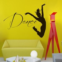 Wall Vinyl Decal Quote Sticker Home Decor Art Mural Dancing Sport Girl Z510