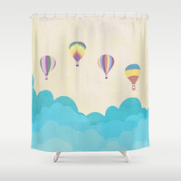 hot air balloons Shower Curtain by Studiomarshallarts