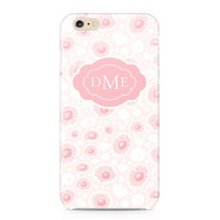 Pretty Flower Pattern Phone Case, Personalized Phone Case, Pastel Pink Phone Case, Floral Phone Case, iPhone 6S, Samsung Galaxy S6