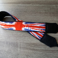 UK flag Camera Strap. DSLR  Camera Strap. Flag of Great Britain.  Camera Accessories