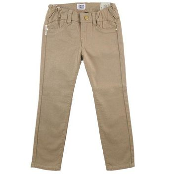 ONETOW Armani Junior Girls Beige Jeggings