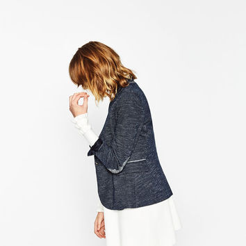 BLAZER WITH ELBOW PATCHES DETAILS