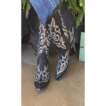 Old Gringo Diego Crystal Boots~ Black   Style L1202-2