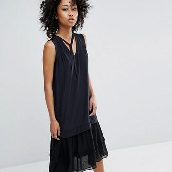 AllSaints Enber Silk Dress at asos.com
