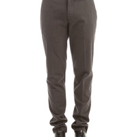 Fendi Gray Basic Trousers