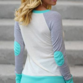 Long-sleeved shirt color short shirt
