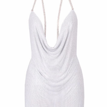 'Marina' Mesh Dress - White