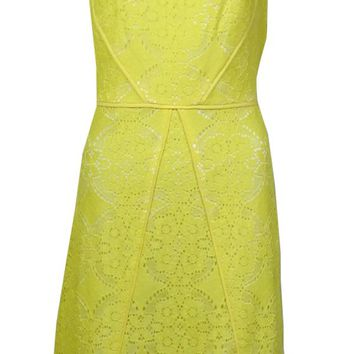 Adrianna Papell Women's Illusion Sleeveless Lace A-Line Dress