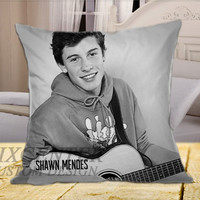 Shawn Mendes EP BW on Square Pillow Cover