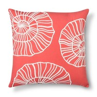 Threshold™ Embroidered Shell Toss Pillow - Coral