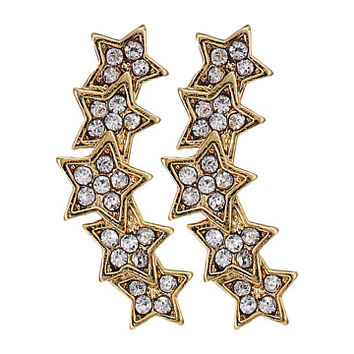 Rebecca Minkoff Starry Night Climber Stud Earrings