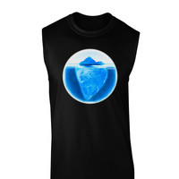 Iceberg Watercolor Dark Muscle Shirt