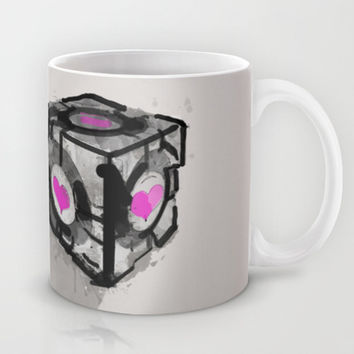 "Lonely Love Cube (Companion Cube from ""Portal"") Mug by Allison Reich"