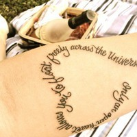 Interesting Tattoos / Only an open heart allows you to float freely across the Universe