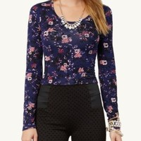 Floral Crop Top | Long Sleeve | rue21
