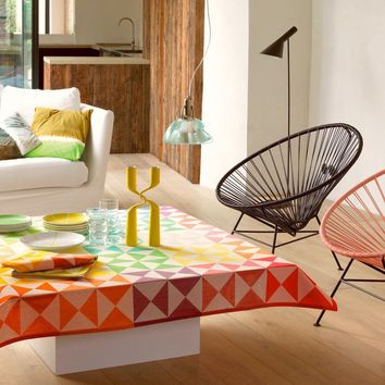Origami Reversible Table Linens in Multico